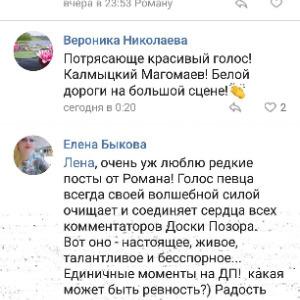 Скриншот с отзывом